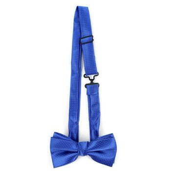Boy's Royal Blue Clip-on Suspender & Plaid Bow Tie Set - BSBS-RBL