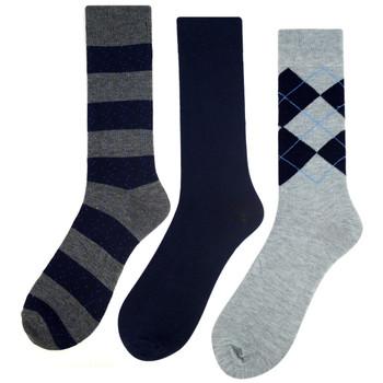 Assorted Pack (3 Pairs) Men's Casual Fancy Crew Socks -3PKS-DRSY11
