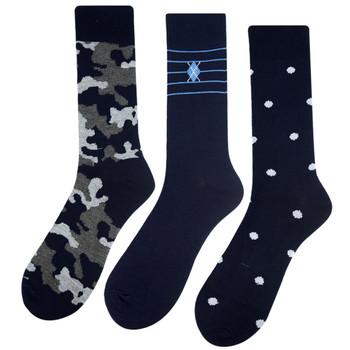 Assorted Pack (3 Pairs) Men's Casual Fancy Crew Socks 3PKS-DRSY16