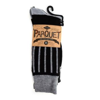 Assorted Pack (3 Pairs) Men's Casual Fancy Crew Socks - 3PKS-S/S-12