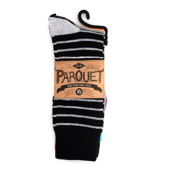 Assorted Pack (3 Pairs) Men's Casual Fancy Crew Socks -3PKS-S/S-13