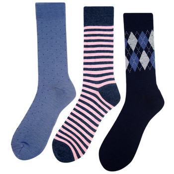 Assorted Pack (3 Pairs) Men's Casual Fancy Crew Socks -3PKS-S/S-16
