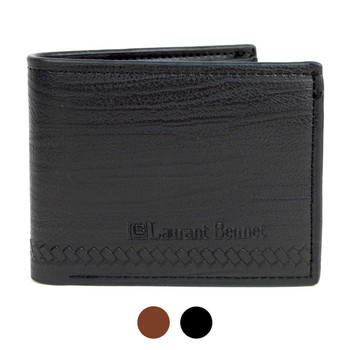 Men's Bi-Fold Leather Wallet - MLW04165_N