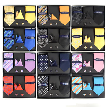 12pc Assorted Pack 2 Tie, 2 Matching Hanky & Cufflink Set
