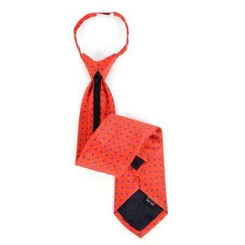 Men's Red Dots Zipper Tie - MPWZ-RD1