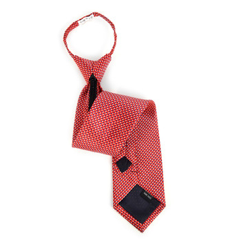 Men's Red Dots Zipper Tie - MPWZ-RD3