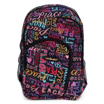 Peace Lettering School Backpack - FBP1206