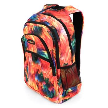 Orange Abstract School Backpack - FBP1208