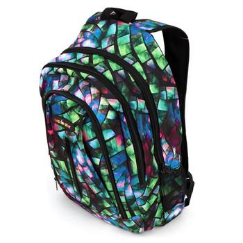 Geometric Pattern School Backpack - FBP1212