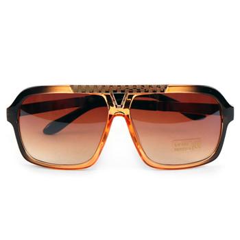 Brown Rectangular Sunglasses - MSG1008