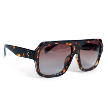 Ladie's Brown Tortoise Rectangular Sunglasses - LSG1008