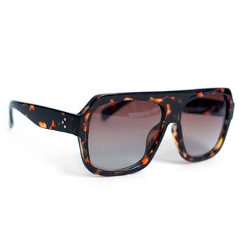 Ladie's Brown Tortoise Rectangular Sunglasses - LSG1008