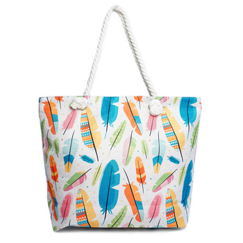 Color Feathers Summer Ladies Tote Bag -LTBG1230