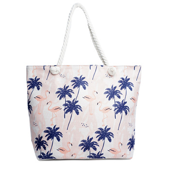 Palm Tree & Flamingo Summer Ladies Tote Bag -LTBG1234
