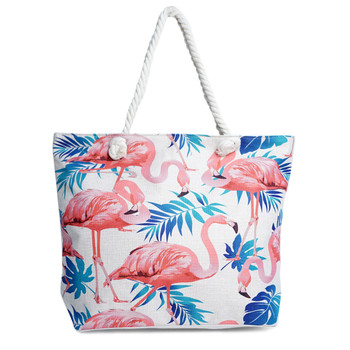 Pink Flamingo Summer Ladies Tote Bag -LTBG1235