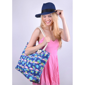 Tropical Leaves & Flamingo Ladies Tote Bag - LTBG1237
