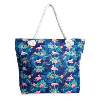 Tropical Leaves & Flamingo Ladies Tote Bag - LTBG1237