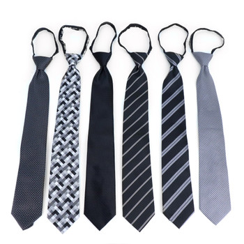 6PC Microfiber Classic Black Zipper Ties - MPWZ-BK#1