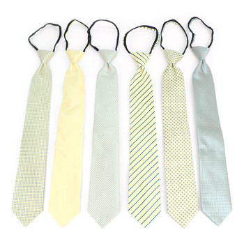 6pc Microfiber Classic Yellow Zipper Pre-Tied Neckties - MPWZ-YW