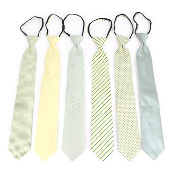 6pc Microfiber Classic Yellow Zipper Pre-Tied Neckties - MPWZ-YW