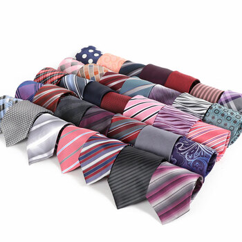 240pc Pre-pack Assorted Poly Woven Ties PW240