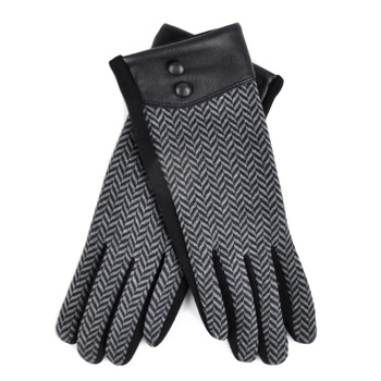 Women's Chevron Touch Screen Winter Gloves - LWG38-BK