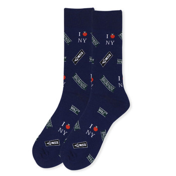 Men's Novelty New York Landmark Socks