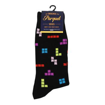 Men's Novelty Tetris Game Socks - NVS19427