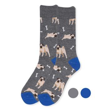 Men's Novelty Pug Dog Socks