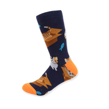 Women's Novelty Cat In The Box Socks
