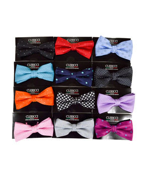12pc Prepack Assorted Banded Bow Ties FBB-SLD