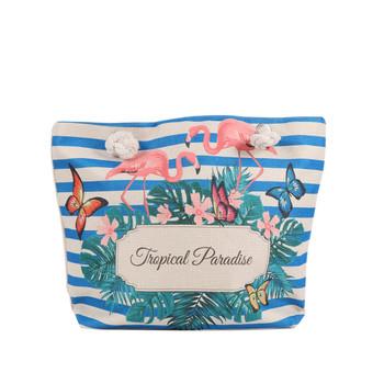 """""""Tropical Paradise"""" Summer Ladies Tote Bag -LTBG1235-N"""