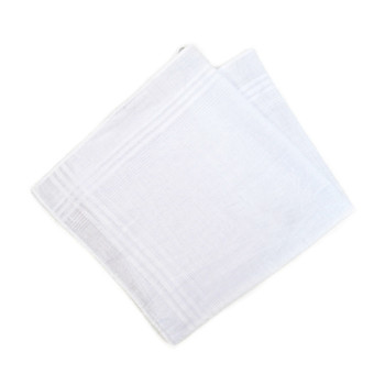 12-Pack Men's White Handkerchiefs - PH003-12