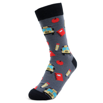 Women's Back to School Novelty Socks - LNVS1915-GRY