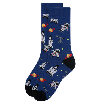 Women's Astronaut Novelty Socks - LNVS1919-BL