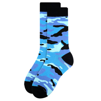 Women's Color Camo Novelty Socks - LNVS19288-BL