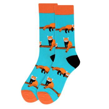 Men's  Red Panda Novelty Socks - NVS19505-BL
