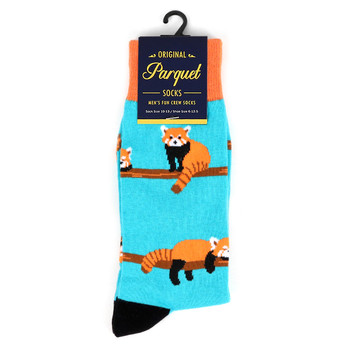 Men's  Red Panda Novelty Socks - NVS19505-BL