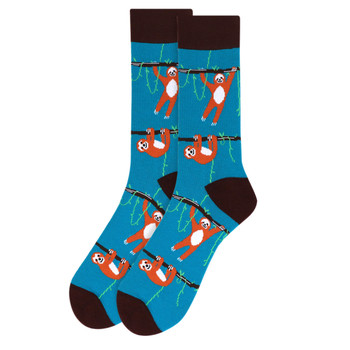 Men's Sloth Novelty Socks - NVS19507-BR