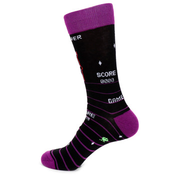 Men's Arcade Novelty Socks - NVS19508-PUR