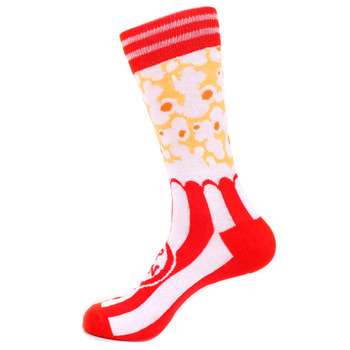 Men's Popcorn Novelty Socks - NVS19509-RD