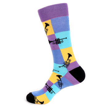 Men's Trumpet Novelty Socks - NVS19525-PUR