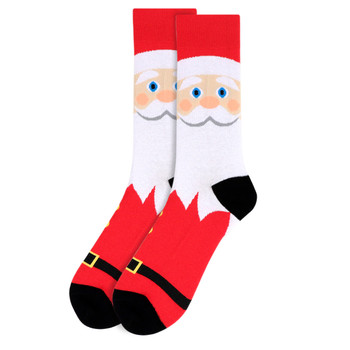 Men's Santa Claus Novelty Socks - NVS19534-RD