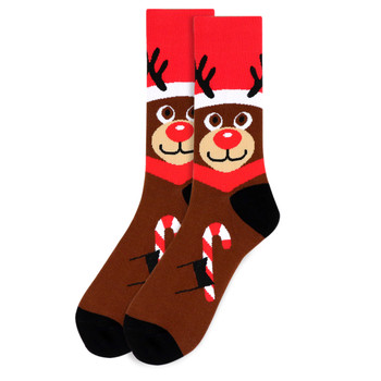Men's Rudolph Novelty Socks - NVS19535-BR