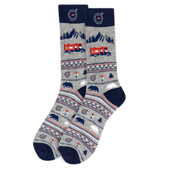 Men's Road Trip Novelty Socks - NVS19539-NVY