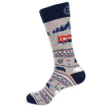 Men's Road Trip Novelty Socks - NVS19539-NVY
