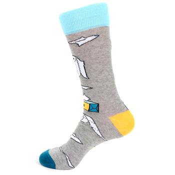 Men's Paper Novelty Socks - NVS19543-GRY