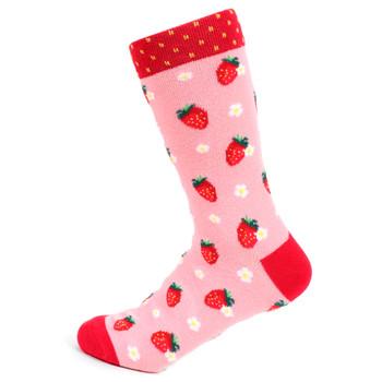 Women's Strawberry Novelty Socks - LNVS19501-RD