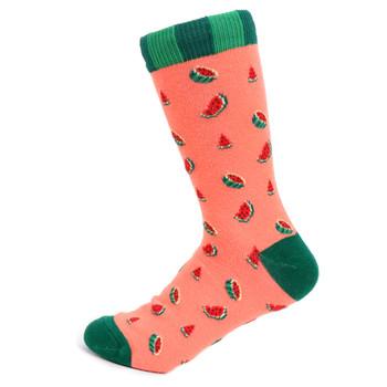 Women's Watermelon Novelty Socks - LNVS19502-GRN