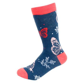 Women's Butterfly Novelty Socks - LNVS19503-NV